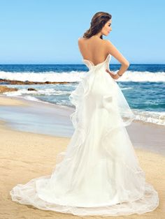 Fantastic Strapless Ruffles Sleeveless Mermaid Wedding Dress