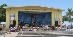 Hollywood Beach Florida Theater & Band shell on the Broadwalk. I love the Jazz shows here! Hey maybe @maysaleak would come here?