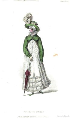 Walking Dress from Ackermann's Repository of the Arts May 1819