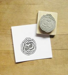Poppy Hand Carved Rubber Stamp by extase on Etsy