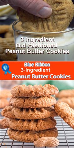 This old-fashioned peanut butter cookies recipe gives you a chewy snack or dessert just like Grandma's! Fast and easy to make, these treats offer the best of everything. Bake this simple pantry idea in just a few minutes. Cake Mix Cookies, Yummy Cookies, Keto Cookies, Sugarless Cookies, Dairy Free Cookies, Cookies Soft, Drop Cookies, Baking Cookies, Sandwich Cookies
