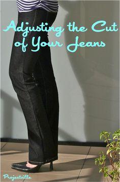DIY Jeans : DIY Jean Fit Adjustment