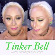 ✨ Once upon a time, I had a favorite cartoon character... Sweet and sassy, and sometimes ill-tempered, spoiled and very jealous. Hmmm. Sounds just like me! Hahahaha! Say hello to Tinker Bell! ✨ #makeup inspired by @promisetamang ✨ #eotd #fotd #halloween #lotd #costume #tinkerbell #bastaigatsikat