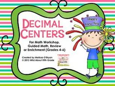 These New Years Decimal Math Centers are perfect for the first week back from Christmas Break. Centers include: Task Cards, Independent Work, Two Math Games, and Problem Solving. Skills include rounding, number lines, mental addition, ordering, and multiplication problem solving all through thousandths. Just print and organize and your math centers are set for the week - allowing you to meet with guided math groups for intervention and enrichment. $ #wildaboutfifthgrade