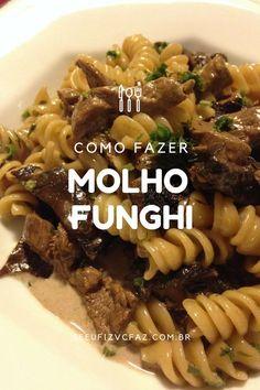 saiba mais sobre como fazer uma massa ao molho funghi com filé mignon! Uma massa deliciosa que sempre impressiona!