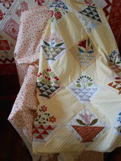 "Supergoof Quilts: ""Sweet William Flowers Girls'"