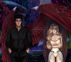 Aesthetic Photography Nature, Black Couple Art, Feyre And Rhysand, Romance Art, A Court Of Mist And Fury, Ange Demon, Cute Art Styles, Angel And Devil, Fantasy Comics