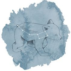 Hawthorne Threads - Celestial - Ursa Minor Panel in Marine  #HTDreamNurseryContest