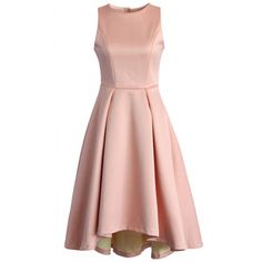 Chicwish Fancy Waterfall Dress in Peach Pink