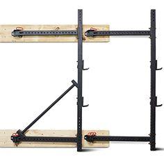 "Titan Fitness Fold Back Power Rack 41"" Deep Wall Mounted Laser Cut Weight RML-3W"