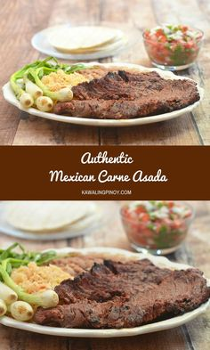Marinated in citrus juices, beer, and spices, and then grilled over hot coals for a wonderful charred flavor, this Authentic Mexican Carne Asada makes a delicious main entree served with rice and beans yet is equally amazing in burritos, tacos, quesadillas, and nachos.