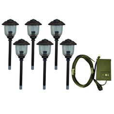 Portfolio 6 light copper low voltage path light kit from lowes to portfolio 12 light bronze low voltage path light landscape light kit mozeypictures Choice Image