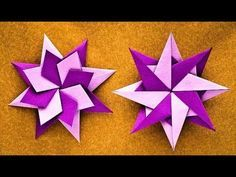 How to make a paper star? - Origami 8 pointed Star - Origami Paper Star - DIY Paper crafts - YouTube