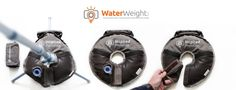 WaterWeight - Ultra portable water or sand bag which folds into