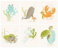 jellyfish  art print by SeaUrchinStudio on Etsy, $15.00