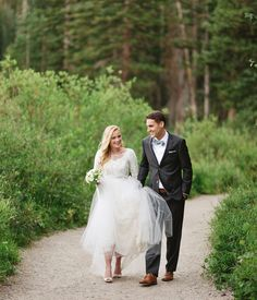modest wedding dress with 3/4 sleeves from alta moda.     ---  (modest bridal gown) --