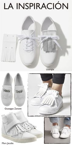 DIY shoes. Fringe. This is an interesting thing. I like it.