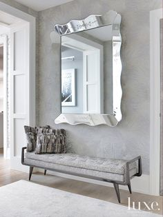 Entry Point, a great mirror with a great bench does it all.