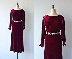 Long Engagement dress  vintage 1930s dress  silk by DearGolden