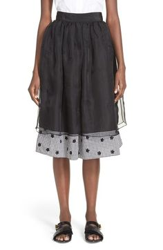 Jupe by Jackie 'Suton' Floral Embroidered Layered Skirt