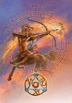 Elemental Fire Talisman and Card Gift Set - Sun Jupiter Mars Planetary Sigils - Aries Leo Sagittarius Pendant. Astrological Planetary Sigils and Fire Element Z