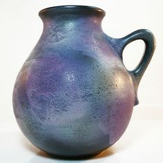 West German Pottery Vase • Ruscha • Lila Glasur / Purple Glaze