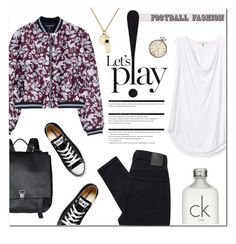 """""""Game On!"""" by stellaasteria ❤ liked on Polyvore featuring Markus Lupfer, Rebecca Taylor, Proenza Schouler, Converse, Calvin Klein, Nobody Denim, Arche, Marc by Marc Jacobs, Patek Philippe and vintage"""