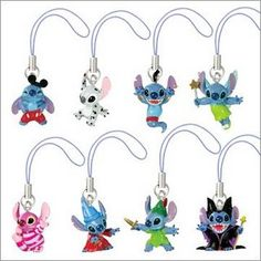 Disney Stitch Cosplay Keychains I want them so bad!!!