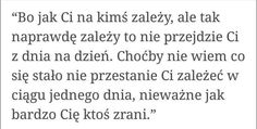 To znaczy, że ani On ani nikt tak na prawdę mnie nie kochał. Wisdom Sentences, Saving Quotes, Fake Love, Some Quotes, True Words, Poetry Quotes, Happy Quotes, Quotations, Texts