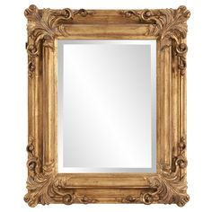 Howard Elliott Edwin Hanging Rectangular Accent Wall Mirror, Rustic Antique Gold, 19 x 23 Inch Wood Framed Mirror, Wall Mounted Mirror, Beveled Mirror, Beveled Glass, Gothic Mirror, Antique Gold Mirror, Gold Mirrors, Ornate Mirror, Antique Frames