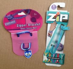 Set of 2 Zipper Bracelets (Set of #7) in DailyDeals' Garage Sale in Alta Loma , CA for $3. Set of 2 New Zipper Bracelets*Items are new, package has stickers on it.