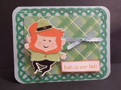 St. Patty's Day Card - He's on an action wobble