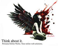 Dark Wings wallpaper by jwkap Dark Angel Wallpaper, Wings Wallpaper, Emo Wallpaper, Visual Kei, Angels Blood, Fallen Angels, Cute Emo Girls, Emo Boys, Piercings