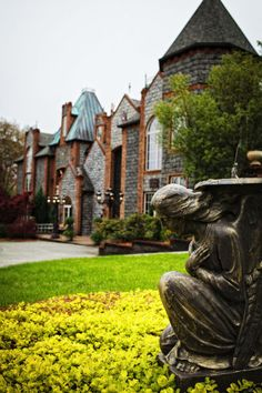 Barclay Villa in Angier, NC -The Castle-like elegance of the home is a perfect setting for a wedding.