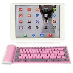 Introducing abcGOODefg Ultrathin Foldable Siliicone Waterproof Wireless Bluetooth keyboard for iPhone iPad Laptop Desktop Netbook MAC Computer HTC Nokia Sony Ericsson Motorola Samsung LG Blackberry Android Mobile Phones Pink. Great product and follow us for more updates!