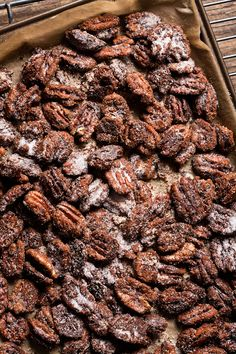 Toasted with a kick, these pecans have a bourbon punch from a single barrel Kentucky beauty and some cayenne to beautifully create a snack with smokiness.