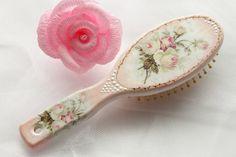 Decorative Wooden Hairbrush Hand Painted Hair by InspirellaDesign