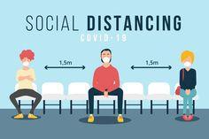 Social distancing concept for illustration design Illustration Plate, Building Illustration, Time Capsule Kids, Spa Promo, Design Plat, Design Design, Graphic Design, Hand Washing Poster, Sneeze Guard
