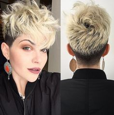 Messy, Pixie Haircut with Thick Hair - Short Hairstyle for Heart Face Shape