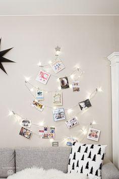 julekort oppheng med Juletre lys