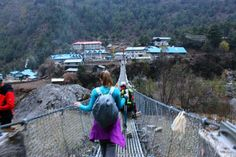 Phakding, Nepal. Suspension bridges...there were many and my heart skipped a few beats every time we crossed one.