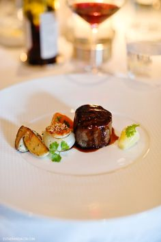 Charcoal-Grilled Japanese Wagyu at The French Laundry Napa.