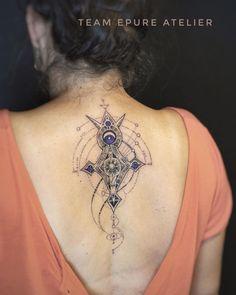 Spiritual Tattoo&Art sur Instagram: Projet personnel de Marion. La croix du Sud comme outil d'orientation et sa dimension astronomique. Travail d'équipe avec…