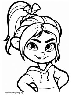 Cartoon Character Coloring Pages Unique How to Draw Vanellope Wreck It Ralph Step by Step Disney Characters Cartoons Draw Cartoon Cool Coloring Pages, Cartoon Coloring Pages, Coloring Sheets, Coloring Books, Baby Disney Characters, Girl Cartoon Characters, Disney Princess Coloring Pages, Disney Princess Colors, Princess Anna