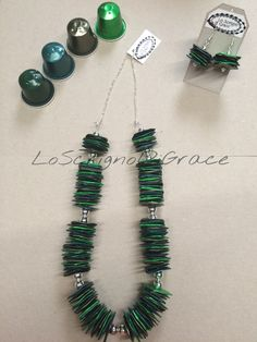 Understand the culture of Italians & their coffee! Recycled Jewelry, Handmade Jewelry, Coffee Pods, Recycle Plastic Bottles, Jewelry Crafts, Arrow Necklace, Jewelry Design, Drop Earrings, Couture
