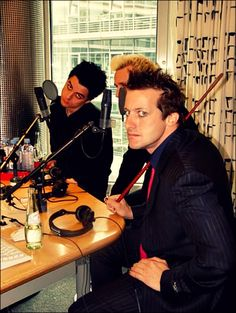 Tre, Mike and BJA - Green Day!!