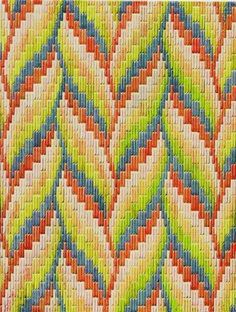 Gorgeous Bargello pattern                                                                                                                                                      More