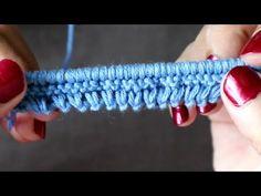 ÖRGÜYE PITIRIK İLE BAŞLAMA TEKNİĞİ - YouTube Knitting Videos, Knitting Stitches, Knitting Designs, Free Knitting, Baby Knitting, Knitting Patterns, Crochet Patterns, Knitted Baby Clothes, Different Stitches