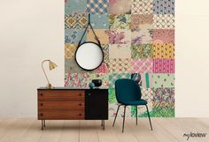 Easy Way to Decorate Room with Amazing Wallpaper #myloview #patchwork #wall