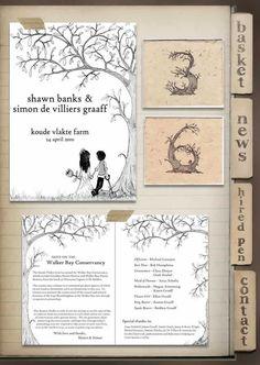 wedding invitation. love the tree.